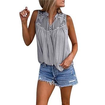 Damen Sommer Weste T-shirt Tank Tops Trägertops Freizeit Trägertop Tunika Strand