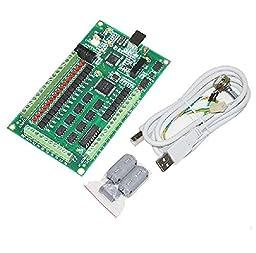 3 Axis CNC Mach3 Breakout Interface Board 3 Axis CNC USB Card 200KHz Support Windows2000/xp/vista