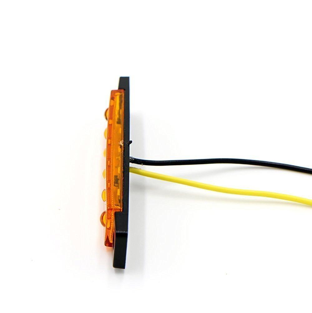 10 x Feux de Gabarit LED Feux Lat/éraux Eclairage LED Arri/ère Avant Indicateur de Position en Lumi/ère Ambre Orange 12V Universel pour Remorque Camion Caravane Camping Car Van Tracteur Bus