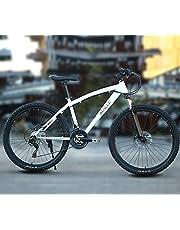 دراجة جبلية سريعة 21 من ماكسي، عجلة تصدر 66 سم، لون أبيض