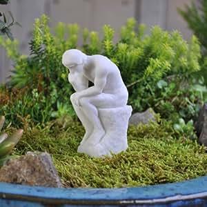 Miniature Fairy Garden Thinker Statue