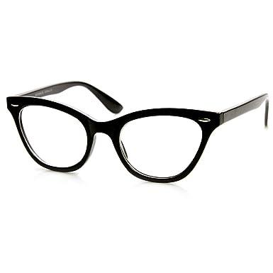 402edd5859cb Glasses neutral KISS - CAT EYE mod. PIN-UP - optical frame WOMAN cult  Rockabilly vintage - BLACK: Amazon.co.uk: Clothing