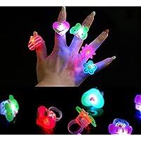 INFInxt LED Blinking Cute Finger Rings for Kids Return Gift Set of 15