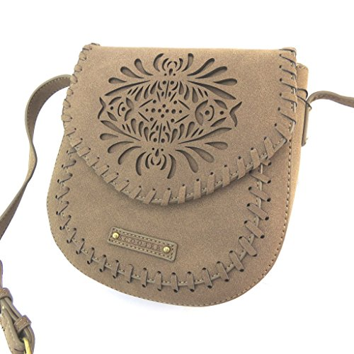 Bolso creativo 'Scooter'taupe - 20x19x7 cm.