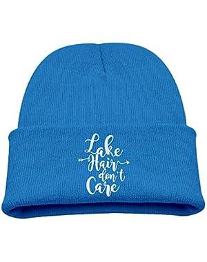 Lake Hair Don't Care Boy Girl Beanie Hat Knitted Beanie Knit Beanie