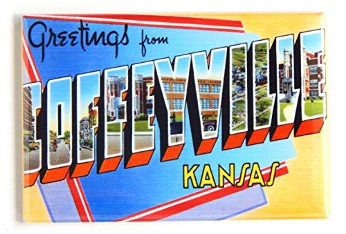 Greetings From Coffeyville Kansas Fridge Magnet  2 X 3 Inches