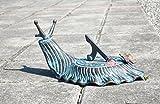 Decorative Brass Garden Outdoor Sundial - Snail with a Little Butterfly