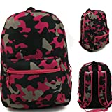 17'' Wholesale Padded Pink Camo Backpack - Case of 24