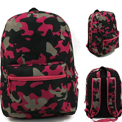 17'' Wholesale Padded Pink Camo Backpack - Case of 24 by Arctic Star