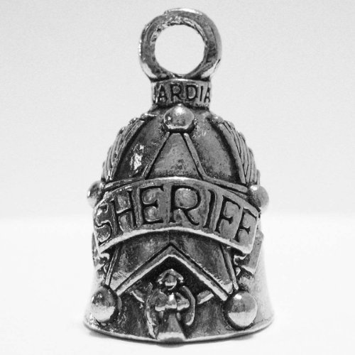 Guardian® Sheriff Motorcycle Biker Luck Gremlin Riding Bell or Key Ring