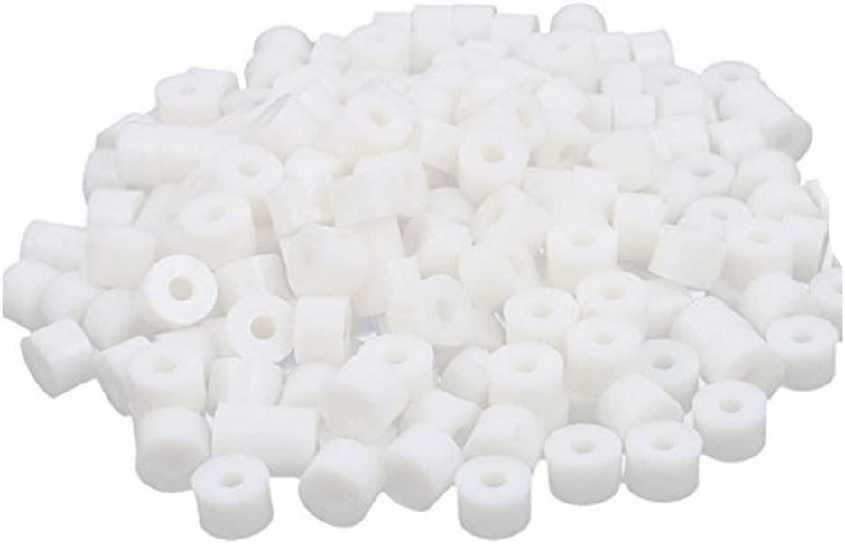 15x8mm XJS Round Plastic Non-Threaded Column Standoff Support Spacer Washer White 100 Pcs