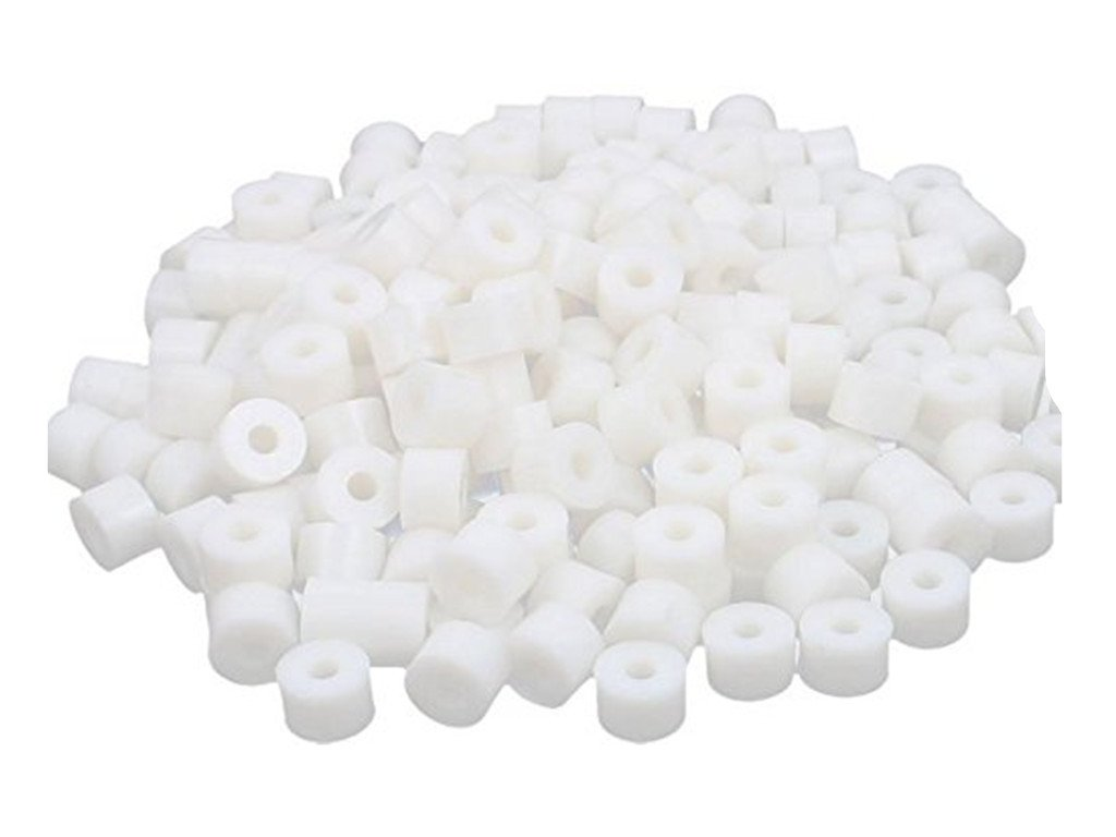 12x9mm XJS Round Plastic Non-Threaded Column Standoff Support Spacer Washer White 100 Pcs