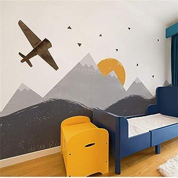 Wpchou Peinture Murale 3d Fond De La Montagne Avion Bacaz