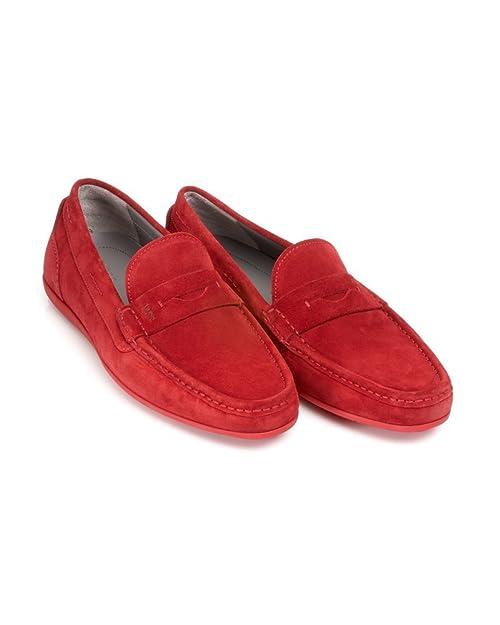 Hugo Boss - Mocasines para Hombre Rojo Rojo: Amazon.es: Zapatos y complementos