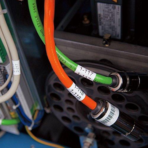 pt-e500 pt-p750wvp neouza Compatible para Brother HSE231/Heat Shrink Tubing Tubo etiqueta cinta negro sobre blanco pt-e300 pt-e550/W