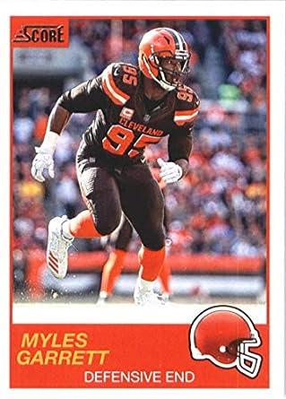buy online 06c37 45aed Amazon.com: 2019 Score Football #109 Myles Garrett Cleveland ...