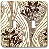 3dRose LSP/_76556/_2 Brown and Black African Pattern Double Toggle Switch Multicolor