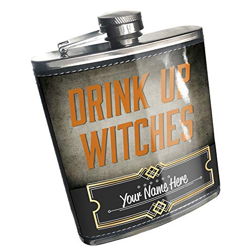 Neonblond Flask Drink Up Witches Halloween Spooky Design