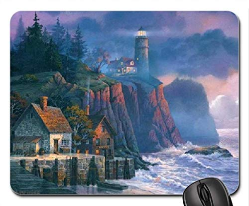 Made Harbor Light Hideaway Mouse Pad, Mousepad (Lighthouses Mouse Pad)