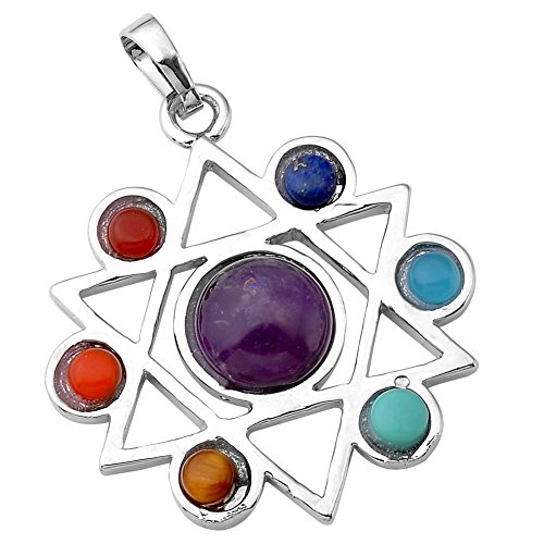 Chakras Gemstone Pendant Crystal Balancing
