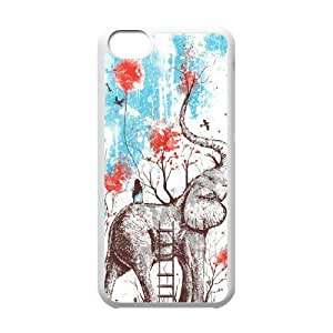 Elephant Unique Fashion Printing Phone Case for Iphone 5C,personalized cover case ygtg525425