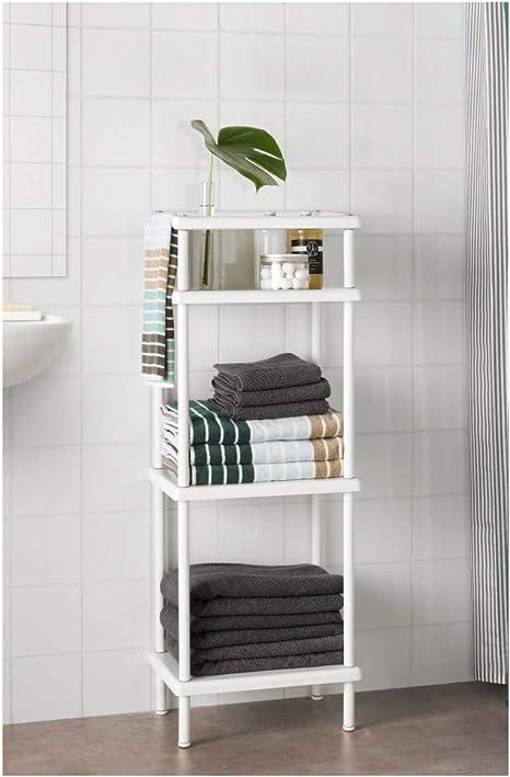 IKEA ASIA DYNAN - Estantería con toallero, Color Blanco ...