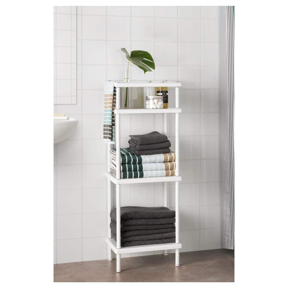 IKEA ASIA DYNAN - Estantería con toallero, Color Blanco: Amazon.es: Hogar