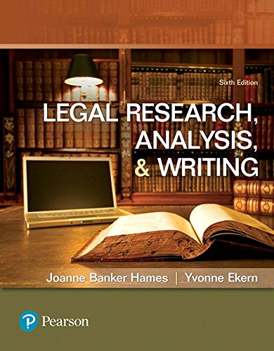 Legal Research, Analysis, and Writing (6th Edition)