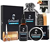 Beard Care & Grooming Kit w/Free Beard Soap,Unscented Beard Oil,Beard Balm,Beard Comb,Beard Brush,Beard