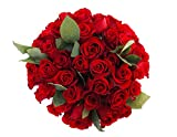 50 Farm Fresh Red Roses Bouquet By JustFreshRoses | Long Stem Fresh Red Rose Delivery