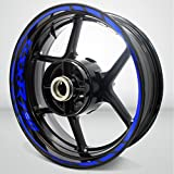Suzuki GSXR 750 Gloss Blue Motorcycle Rim Wheel Decal Accessory Sticker