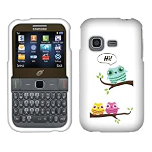 Fincibo (TM) Samsung S390G Protector Hard Plastic Snap On Cover Case - Three Little Owls, Front And Back