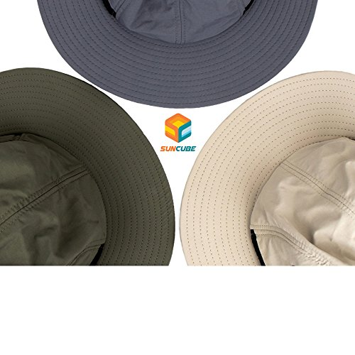 f35390eac1ef9 SUN CUBE Fishing Sun Hat for Men with Neck Cover Flap