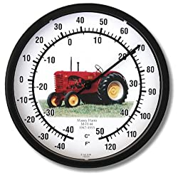 New Massey Harris Tractor Model 44 10 Round Thermometer (1947 - 1955)