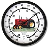 """New Massey Harris Tractor Model 44 10"""" Round Thermometer (1947 - 1955)"""