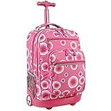 J World New York Sundance LAPTOP Rolling Backpack for Schooling & Travel, 20 inch