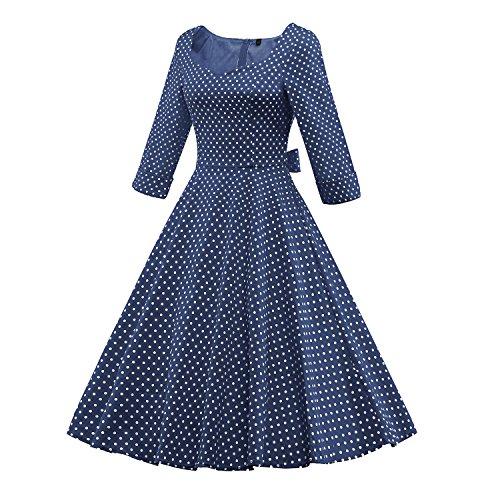 LUOUSE - Vestido - Noche - para mujer W703-DotNavyBlue