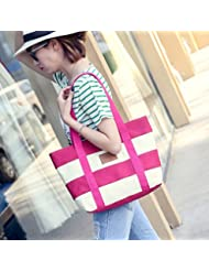 TraveT Canvas Shoulder Bag Weekend Shopping Bag Handbag For Women