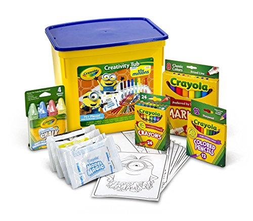 Crayola Minions Creativity Tub 75 Piece by Crayola