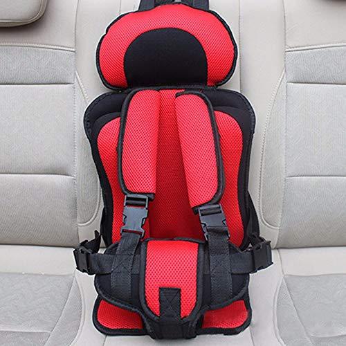 Hadeyicar Portable Baby Seat Adjustable Seat Child Child Baby Seat Car Thickening Baby Stroller Seat Cushion 0-5Y,Redblack