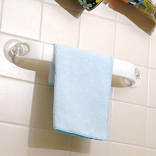 Sursy La succión fuerte baño toalla, toallero, toallero de plástico largo 15cm *, Ancho 4,5 cm: Amazon.es: Hogar