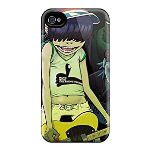 Bumper Hard Cell-phone Case For Iphone 4/4s With Provide Private Custom High Resolution Gorillaz Band Pattern CharlesPoirier