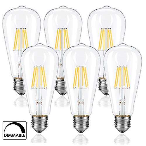 BOHON Dimmable LED Edison Bulb 60 Watt Equivale...
