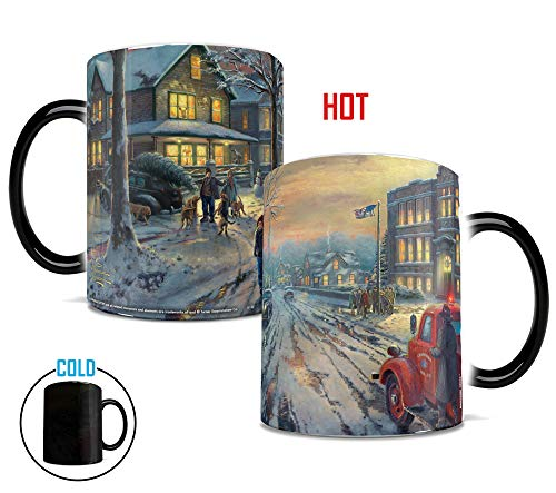 Morphing Mugs Thomas Kinkade A Christmas Story Painting Heat Reveal Ceramic Coffee Mug - 11 Ounces