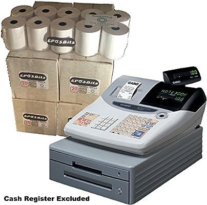 eposbits® marca rollos para Casio TE-100 caja registradora TE100 te 100 – 80 rollos: Amazon.es: Oficina y papelería