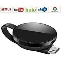 Wireless Wifi Display Dongle, Android System Support for Google Chrome, HDMI 1080P Digital TV Receiver Adapter, Home App Support YouTube,Netflix,Hulu, TV Stick Miracast Airplay for Android/Mac/iPhone