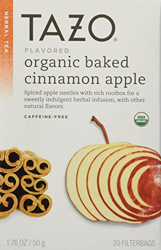 Tazo Organic Cinnamon Apple Rooibos Herbal Tea, 20 filter bag,1.76 OZ/ 50 g