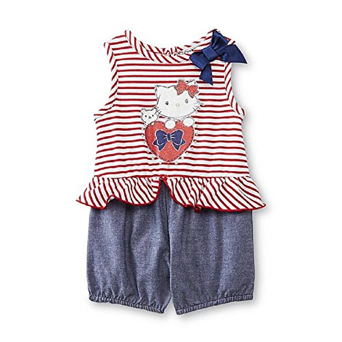 (SANRIO Charmmy Kitty Baby Girl's Romper - Striped 0/3 Months)