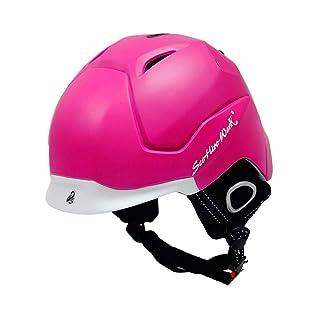 Casco ultraleggero monopezzo - casco da sci caldo antivento - casco da neve per adulto per bambini single e double board - nero/rosa/grigio/blu/giallo/rosso