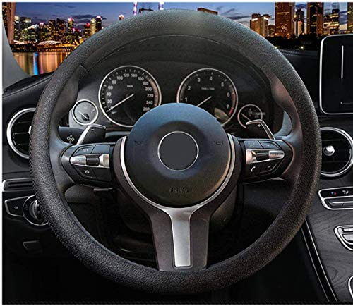 (OHF Steering Wheel Cover Auto Car Silicone Great Grip Anti-slip Steering Cover for Diameter 36-38cm/14-15inch)